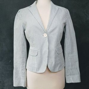 GAP | Fitted Single Button Pinstriped Blazer…